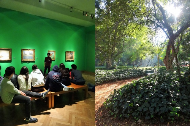 A new generation of Monet fans (left) & Getting a little botanical (right)